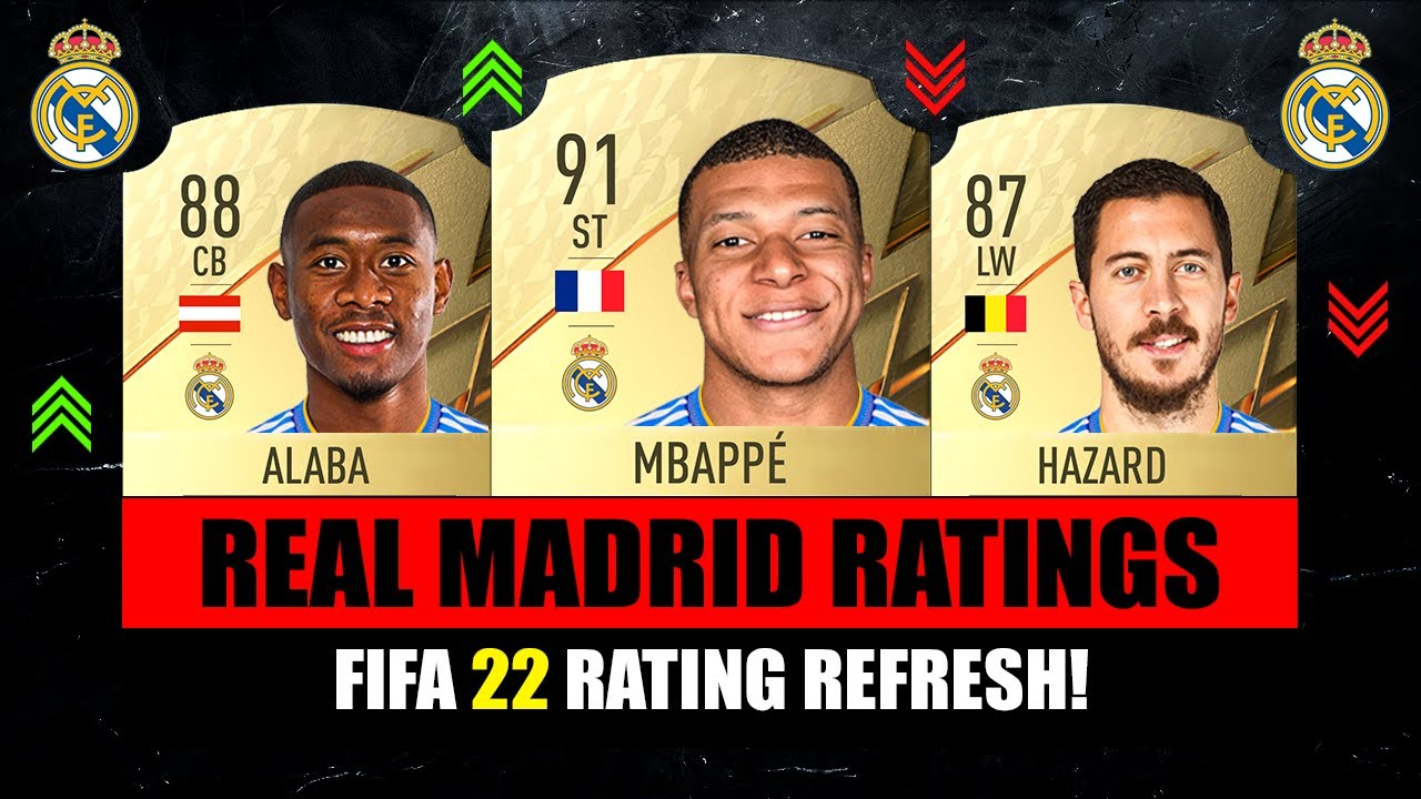 FIFA 22 | REAL MADRID PLAYER RATINGS! 😱🔥 ft. Alaba, Mbappe, Hazard…