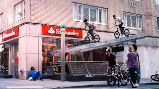 Riding BMX at High Risk NYC Spots