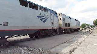 Amtrak Train 19 Departs Gainesville with #72 and #121