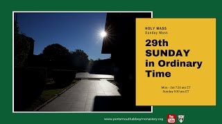 🔴LIVE SUNDAY MASS with Abbey School: 29th Week in Ordinary Time | Benedictine Monks