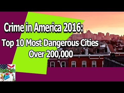 Crime in America 2016: Top 10 Most Dangerous Cities | Useful info