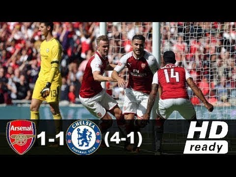 Download Arsenal vs Chelsea 1-1 4-1   All Goals & Extended Highlights Penalty Shootout 06 08 2017 HD