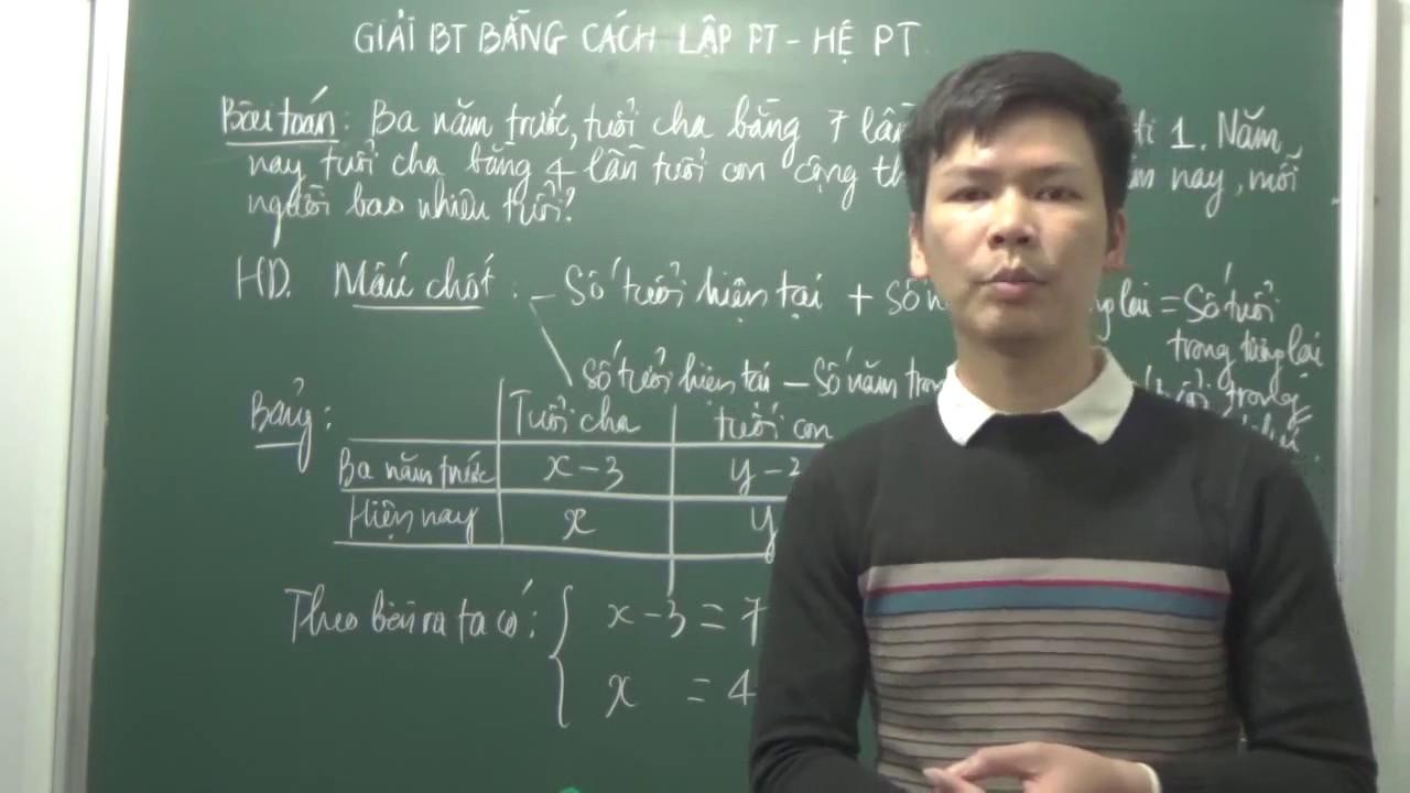 Ôn thi vào lớp 10 – Giải bài toán bằng cách lập hệ phương trình (P3)