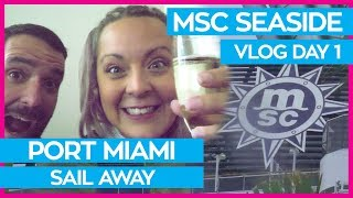 Prettiest Cruise Ship EVER | MSC Seaside Cruise Vlog Day 01