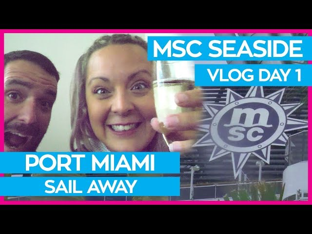 MSC Seaside | Boarding the Ship, Yacht Club Cabin Tour & Top Sail Lounge | MSC Cruises Vlog Day 01