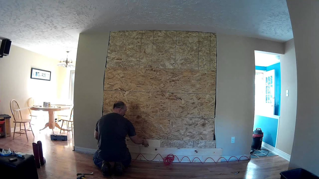 mock fireplace removal youtube