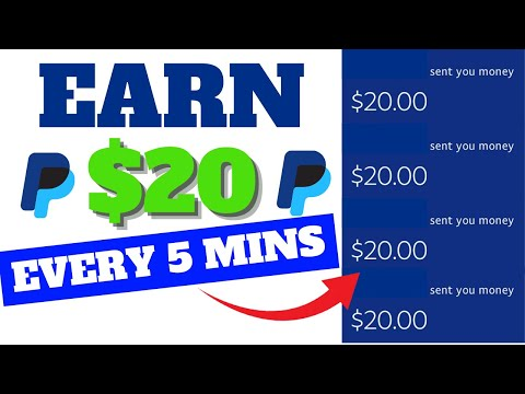 Earn 20 Every 5 Mins Into Your PayPal Earn PayPal Money For Beginners 2021