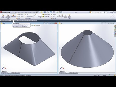 solidworks-lofted-bend-tutorial-|-solidworks-sheet-metal-cone-tutorial-|-sheet-metal-transitions