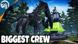 BIGGEST LOGGING CREW EVER   Farming Simulator 17   Multiplayer Gameplay