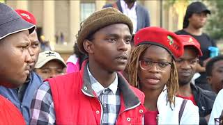 Wits EFF SRC briefs the media on leaked fees commission report
