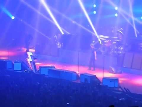The Killers Concert At UCCU In Orem, Utah -Brandon Flowers Jumping In The Crowd