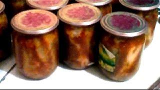 Домашние консервы- бычки в томате