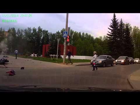 Авария Смоленск ул. Нормандия-Неман 15.05.2014