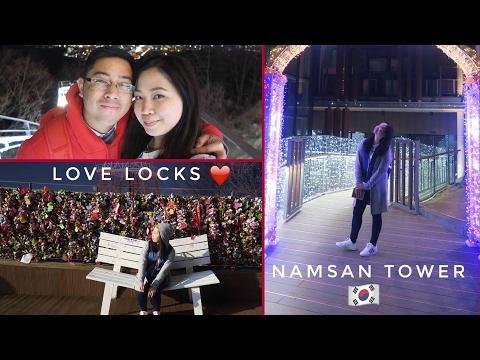 KOREA Vlog #7: Namsan Tower at Night 😍 Seoul's Beautiful View ❤️