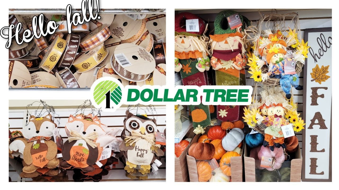 DOLLAR TREE SHOP WITH ME! BEAUTIFUL NEW FALL DECOR 2021!! COME SEE!!!  7-30-21