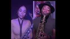 Thinkin Bout You Sax Duet Cover w Romana de Meneges 🎷🎷