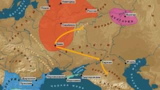 Анимированная карта Древнерусского государства