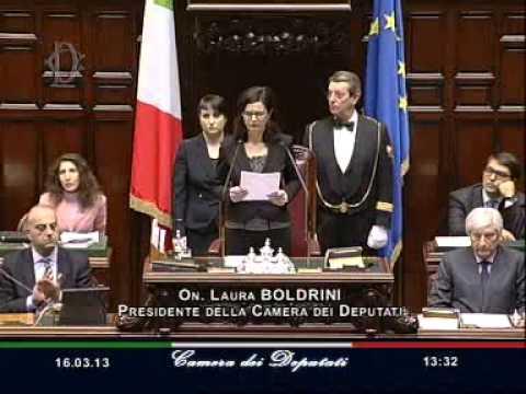 Discorso Camera Boldrini : 16 marzo 2013 discorso laura boldrini neo presidente camera youtube