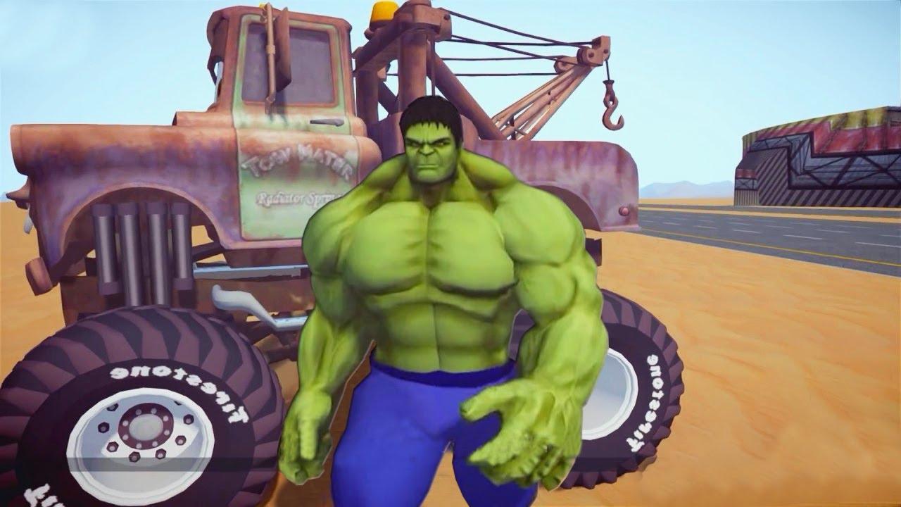 monster truck tow mater and lightning mcqueen  gta iv