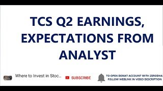 TCS Q2 EARNINGS | EXPECTATIONS FROM ANALYST || TCS STOCK NEWS | TCS SHARE PRICE