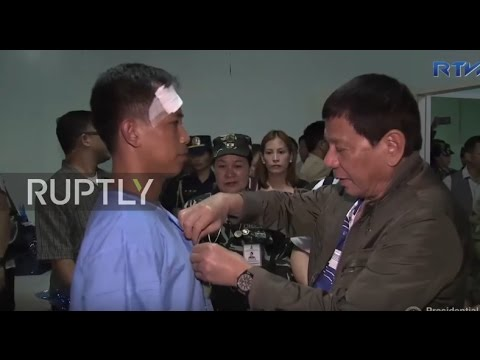 Philippines: Duterte visits wounded security personnel in Lanao del Sur