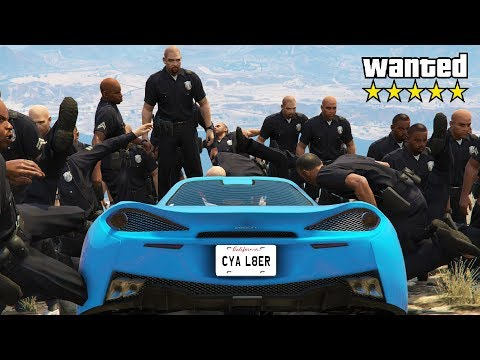 I Won By Ramming Cops Down The Mountain! (GTA Cops & Robbers)
