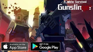 Gunslinger: Zombie Survival Gameplay Android - iOS Minecraft Style Zombie Survival