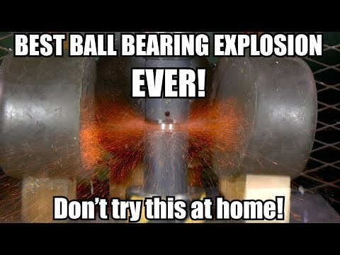 Ball Bearing = The Most Dangerous Thing To Crush With Hydraulic Press