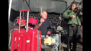 Busking With A Homemade Suitcase Drum Kit