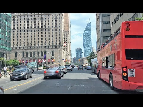 Driving Downtown - Toronto's Skyline 4K - Canada