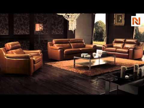 Modern Brown Leather Living Room Furniture VGBNBO3936