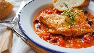 茄汁煨雞腿