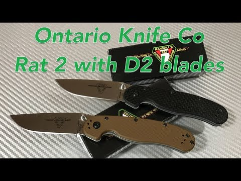 Ontario Knife Co. RAT II Knife with D2 blade