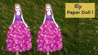 #paperdoll #papercraft #diy  EASY PAPER DOLL TUTORIAL | Aloha Crafts