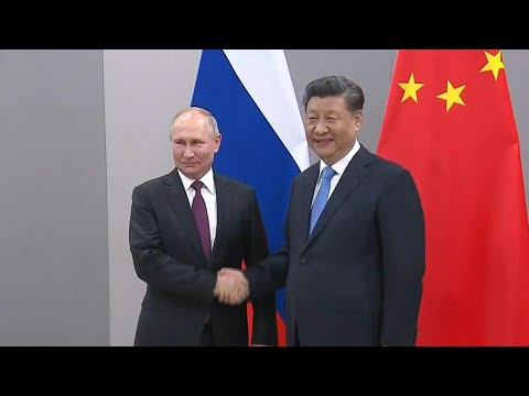 AFP news agency: Presidents of Russia and China shake hands ahead of BRICS summit | AFP