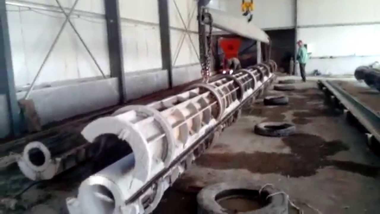 Precast Concrete Pole : Prestressed concrete spun pole making machine centrifugal