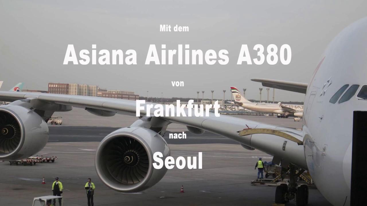 Mit dem A380 von Asiana Airlines nach Seoul
