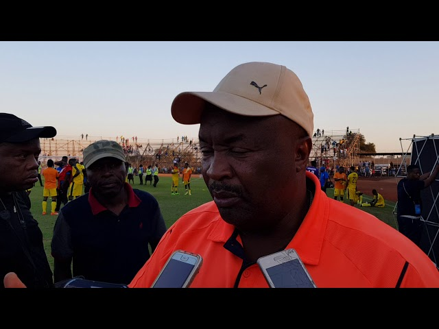 Jomo Cosmos owner/coach Jomo Sono on his Team qualifying for the Promotional playoffs