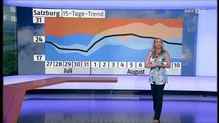 Christa Kummer & Katharina Kramer ORF-Wetter 27-07-2011