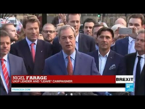 "Brexit vote: UKIP leader Nigel Farage hails British voters, declares ""UK"