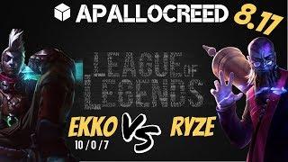 Apallocreed | Ekko vs Ryze Mid Ranked Patch 8.17