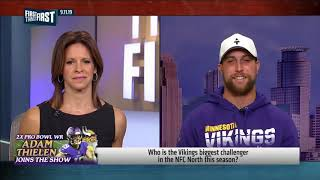 Adam Thielen talks facing Packers in Wk 2, competitive NFC & Kirk Cousins NFL FIRST THINGS FIRST