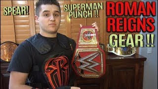 ROMAN REIGNS WWE GEAR & ANOTHER SUPERMAN PUNCH & SPEAR TO MY BROTHER!
