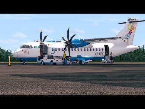 Prepar 3D v3.4 Bahamasair ATR 42-600 Lynden Pindling Int'l to Port Au Prince Int'l(Haiti)