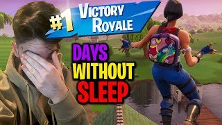 Winning a Game of Fortnite after Not Sleeping for 36 Hours