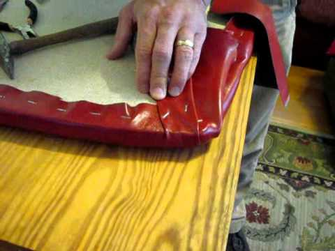 How To Reupholster A Chair Cushion Corner Patio String Upholster Seat Part 3 Stapling Corners And Resembling