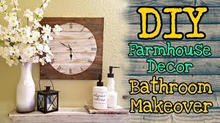 DIY Farmhouse Decor BATHROOM MAKEOVER / Dollar Tree DIY Farmhouse Decor