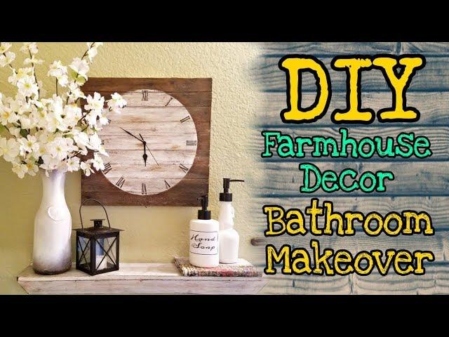 Diy Farmhouse Decor Bathroom Makeover Dollar Tree Diy Farmhouse Decor Youtube