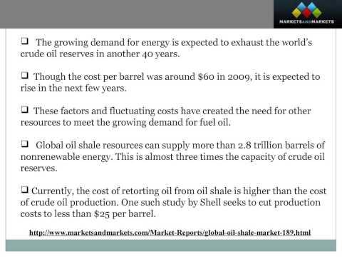 Global Oil Shale Market worth US$12.01 Billion by 2030