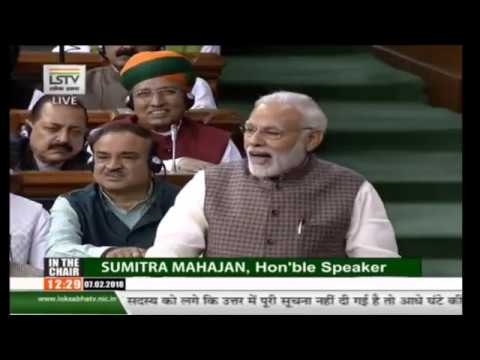 PM Modi's reply to the 'Motion of Thanks on the President's Address' in the Lok Sabha